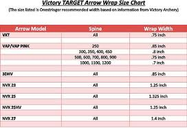 Victory Arrow Chart Victory Target Arrows Onestringer