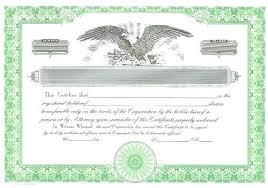 Corporate Stock Certificate Template Word