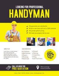 free handyman flyer template 1 220 handyman service flyer customizable design templates