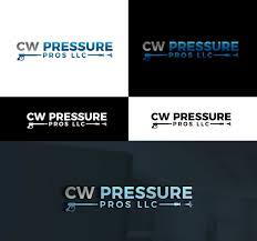 Cw Design Llc Elegant Playful Logo Design For Cw Pressure Pros Llc By