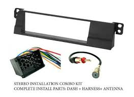 bmw stereo wiring harness dash install kit faceplate fm antenna adaptor combo complete aftermarket stereo wire and installation kit
