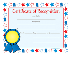 Certificate Recognition Certificate Of Recognition Recognition Certificates