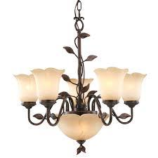allen roth 7 light bronze traditional chandelier