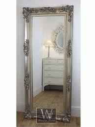 silver floor mirror. Georgina Silver Ornate Leaner Antique Floor Mirror 68\
