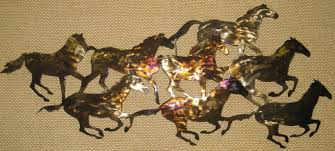 horses running wall art on metal horses wall art with western prints metal wall arts gifts for sale