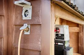 our electrical system the tiny tack house we can hook up to either a 15 amp standard extension cord or 30