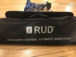 Rud Snow Chain Size Chart Rud Comfort Centrax Snow Chains