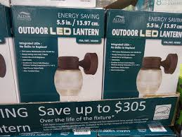 altair lighting corporation lilianduval altair outdoor decorative motion detector 7 watt led lantern costco 2 lighting