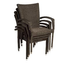 international home atlantic stackable set of 4 aluminum dining chairs with wicker seat