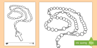 Small Picture Month of the Holy Rosary Colouring Page mary god catholic