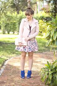 blush moto jacket fl skirt