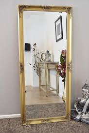 shabby chic ornate gold wall mirror