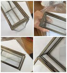 archive with tag glass shadow box frame