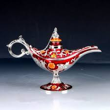 <b>Chinese Decorative</b> Cloisonne <b>Handwork Carved</b> Aladdin Lamp ...