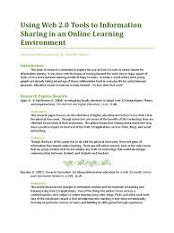 Annotated Bibliography Educational Technology Web 20
