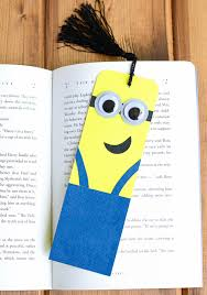 making book mark make your own minion bookmark bookmarks activities and craft