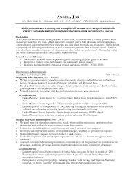 Pharmaceutical Resume Template Sidemcicek Com
