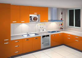 Colour For Kitchen Home Decor Orange Color Kitchen Cabinets With Appealing Rectangle