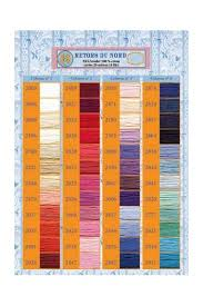 Embroidery Chart Printed Colour Chart Retors Du Nord Embroidery Thread