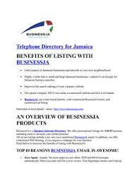 Telephone Listing Businessja Is A Business Internet Directory We Offer Telephone