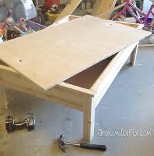 apothecary style coffee table with