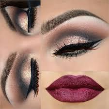 black gold eyes dark matte lips