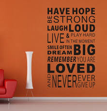 new 2014 have hope sticker family rules home decor quotes office wall sticker mural art living amazing wall quotes office