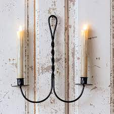 2 light candle wall sconce set of 2