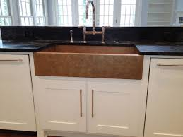 Farmhouse Sink Cabinet White Kitchen Cabinets With Copper Sink Quicuacom