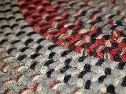 vintage american oval braided rug 1930s 9