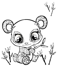 Small Picture Lovely Coloring Pages Draw A Cartoon Panda Bear Cute Mom And Ba
