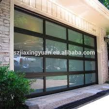modern black anodized aluminum frame automatic clear garage door window