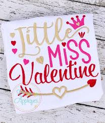 Little Miss Chart Little Miss Valentine Embroidery Digital Machine Embroidery Design 4 Size Valentine Embroidery Little Miss Embroidery Lil Miss Embroidery