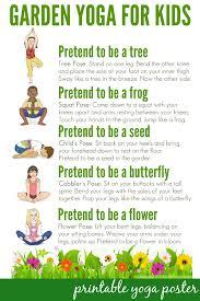 Printable Kids Yoga For Kids Free Resources Printable Yoga Posters