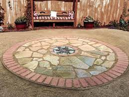 how to make a brick and flagstone patio