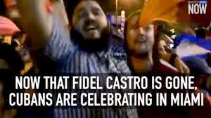 Image result for Dân Cuba ăn mừng tại Miami khi hay tin Fidel Castro chết