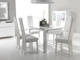 White Distressed Kitchen Table Dining Room Magnificent White Glossy Dining Table With Dining