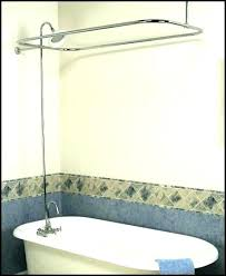 shower for clawfoot tub claw bathtub shower kit tub faucet kit tub add on shower kit faucet rod image 1 clawfoot tub shower curtain rod kit clawfoot bathtub