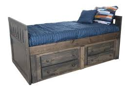 Trend Wood Bayview Rustic Gray Twin Storage Bed | Homemakers Furniture