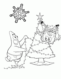 Best Photos Of Spongebob Christmas Coloring Pages Spongebob And