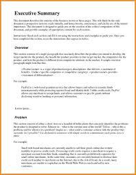 Executive Summary Templates Examples Of Executive Summary Example Executive Summary 11