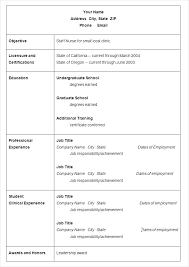 Resume Sample Download In Word Resume Sample Ms Word File Format In Simple Nursing Template