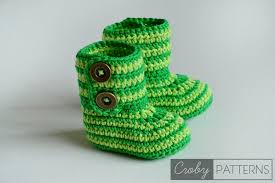 Crochet Baby Booties Pattern 3 6 Months Adorable FREE PATTERN Crochet Baby Booties Green Zebra Croby Patterns