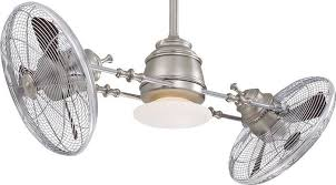 minka aire f802 bn ch one light brushed nickel chrome ceiling fan