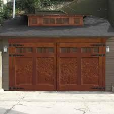Delighful Wood Garage Door Styles Its Ornate S Intended Impressive Design