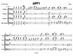 happy trombone sheet music download happy for trombone quartet sheet music by pharrell