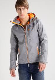 superdry summer jacket light grey marl fluro lime men superdry jackets reddit