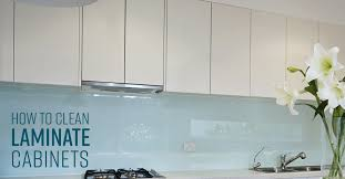 how to clean laminate cabinets simple