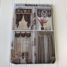 Curtain Sewing Patterns Classy Butterick Waverly Uncut Sewing Pattern B48 Window Curtain Drapes