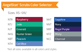 Scrub Color Chart Reversible V Neck Scrub Tops Angelica Color Coded Scrubs
